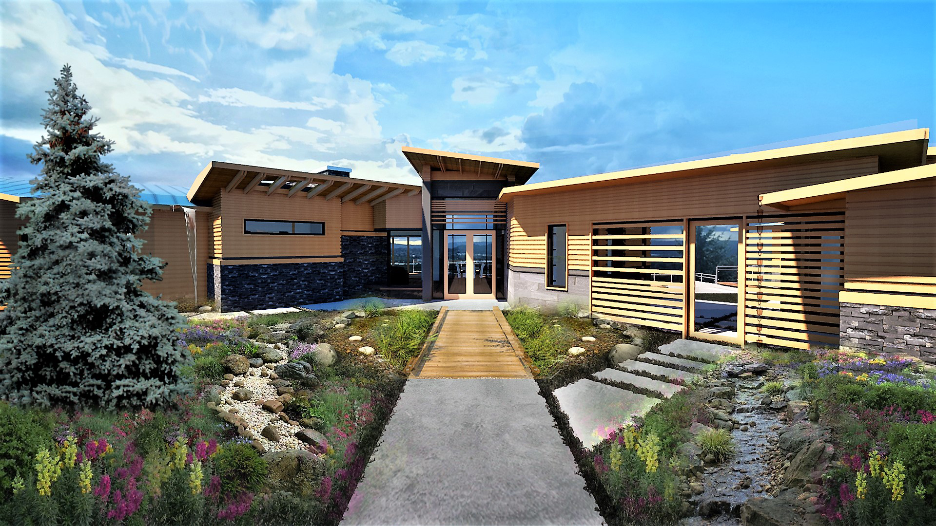 MC Custom Homes Rendering